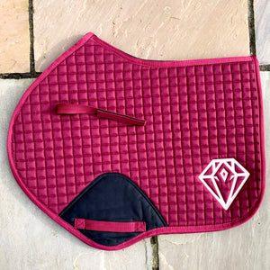 Signature CC Saddle Pad (Burgundy)