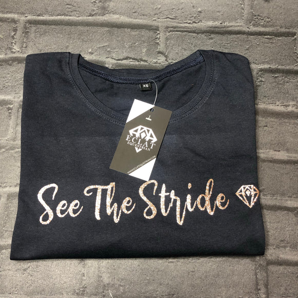 'See The Stride' Glitter Tee