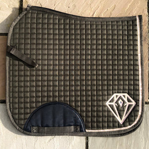 Rose Sequin Dressage Saddle Pad (Olive)