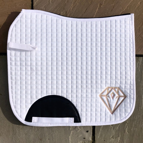 Signature Dressage Saddle Pad (White)