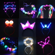 Flashing Neon LED Kids Tiara Headbands For Parties