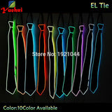 Fashion Glowing LED Neon Men Necktie For Party