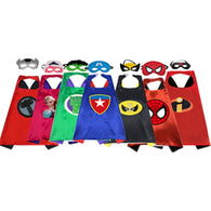 1CAPE+1MASK Super Hero Cosplay Costume for Children Halloween Party Costumes for Kids Superman Spiderman Cloak