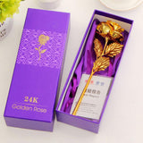 Valentine's Day Creative 24 K Foil Plated Rose Gold Gift