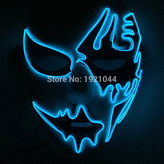 Neon Glowing Rave Custom Night fluorescent Mask for Party
