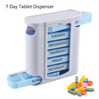 7 Days Organizer Portable Pill Box With Lids