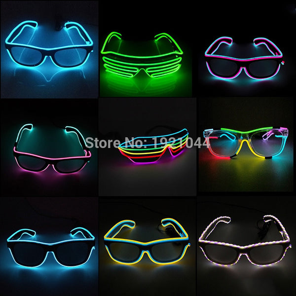 Sound Activated LED Glasses For Party Decor Double Colors