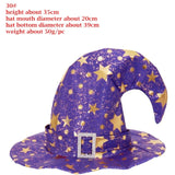 Witch Masquerade Ribbon Wizard Hat For Halloween Party
