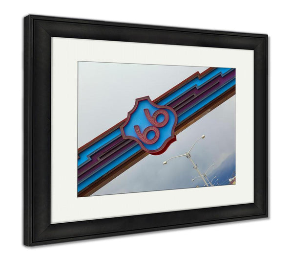 Framed Print, Historic Route 66 In Albuquerque New Mexico