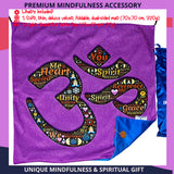 Spiritual holy gift, om meditation mat, meditation gift for men, women, gift for meditation lover, hindu room decor, wall hanging nonreligious, convertible mindfulness cushion cover, wall decal holy, aum mat, meditation cushion aum, om decor set