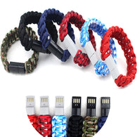 Android USB Men /Women Data Cable Charger Bracelets