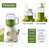 Multi function Retro Portable Juice Maker For Baby Food