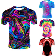 Novelty Colorful 3D Graphic Mens Fashion Streetwear T-shirts