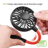 Portable Neckband Hands free Fans With USB Rechargeable