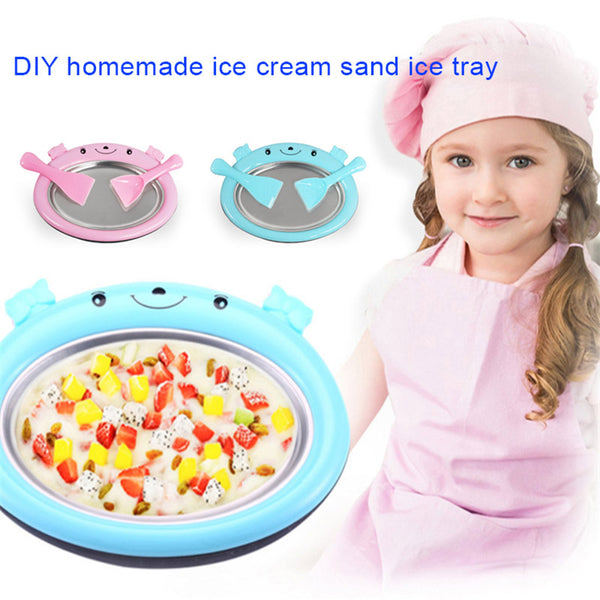 Instant Ice Cream Yogurt DIY Maker Pan for Kids