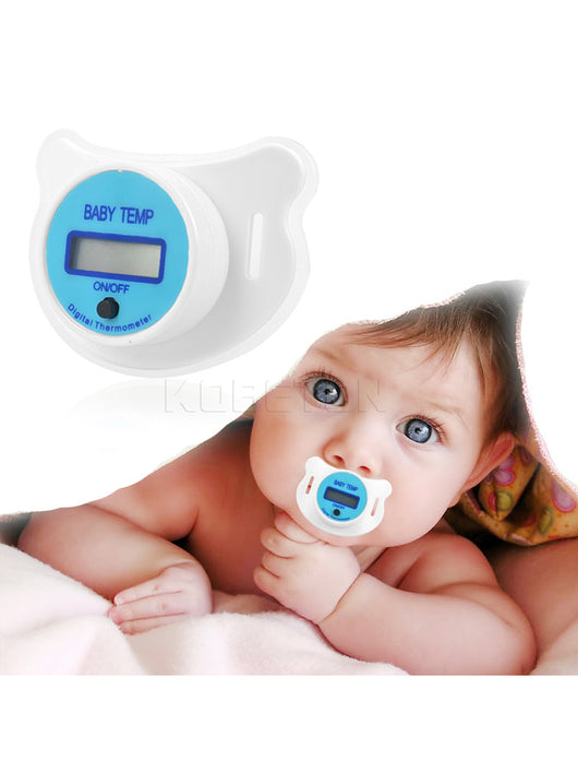 LCD Digital Baby Nipple Silicon Safety Thermometer