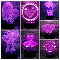 3D LED USB Romantic Night Light