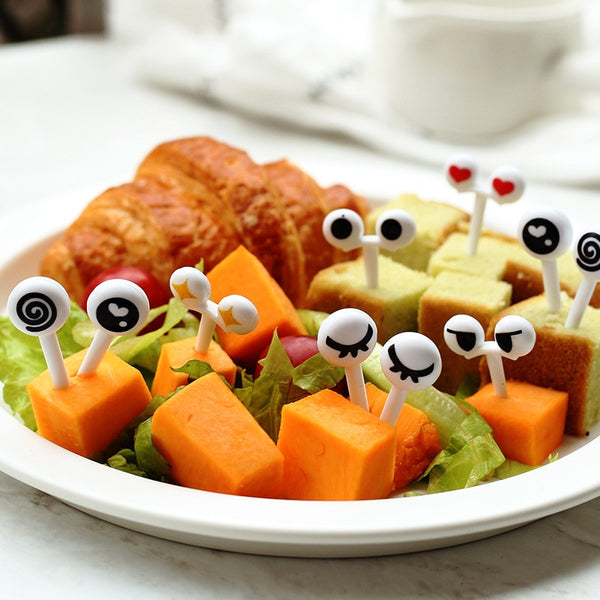 Cute Eyes plastic Fruit Fork /Pick