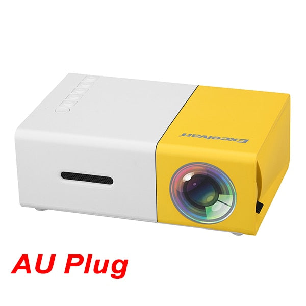 Mini LED Projector AV USB SD Card HDMI Interface For Kids