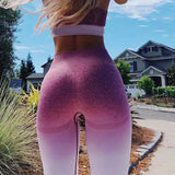 Ombre Seamless Women Athleisure Training Leggings