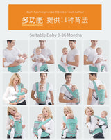 Ergonomic infant Baby Front Facing Carrier 0-18 months