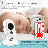 Wireless Video Color Baby Monitor with 2 Way LCD