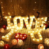 Alphabet Letter LED Night Light For Special Occasion