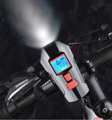 USB Front Flashlight Waterproof Bicycle Light with Speed Meter