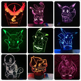 Pokemon Go Action Figure 3D RGB LED Lamp