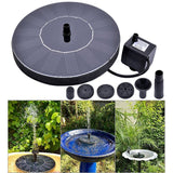 Floating Solar Power Water Pump Fountain Pond For Bird Bath Garden Decor