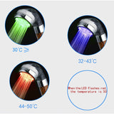 LED Colorful SPA Temperature Control Shower Head