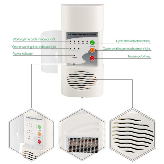 Portable Air Purifier With Ozone Generator Sterilization Germicidal Filter