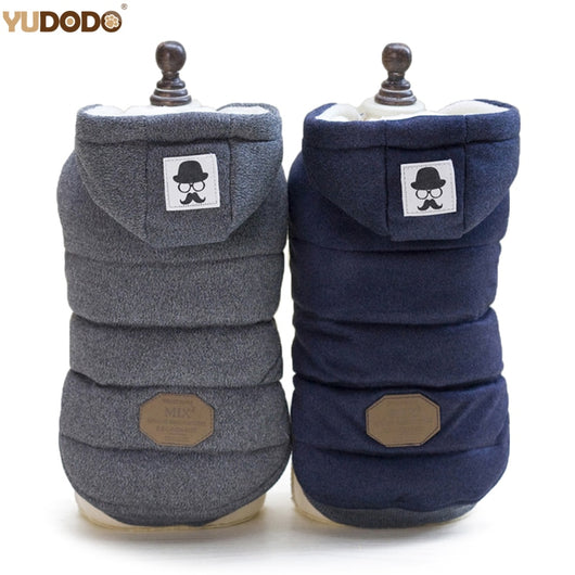 Winter Warm Hooded Thick Cotton Pet Clothes