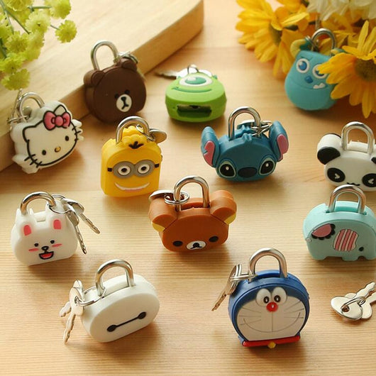 Cartoon Kawaii Animals Luggage Bag Metal Lock With Password