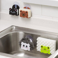 Cartoon Dish Cloth Sponge Holder with Suction Cup