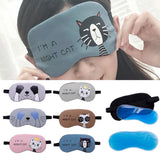 Cute Cartoon Soft Eye shade with Comfortable Ice Compress Gel