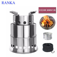 Portable Stainless Steel Wood Stove for camping & picnic