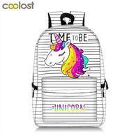 Kawaii Cartoon Unicorn Backpack For Teenage Girls Women
