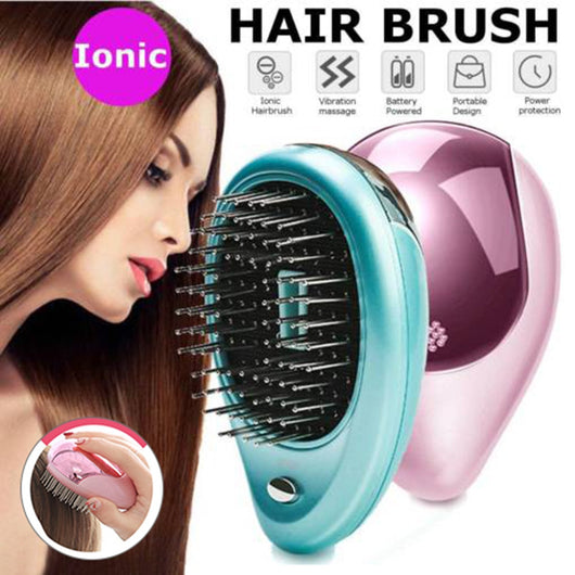 Portable Electric mini Ionic Hairbrush for Travel