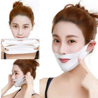4D Double V Face Ear Paste Hydrogel Mask For Lifting Firming