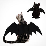 Halloween Pet Dog Bat Wings Vampire Black Cute Fancy Costume