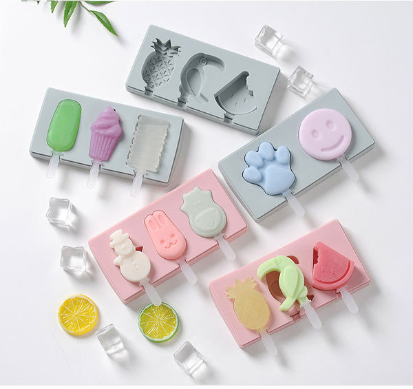 Cute ice cream mold with Silicon Lid For DIY Ice-Cream