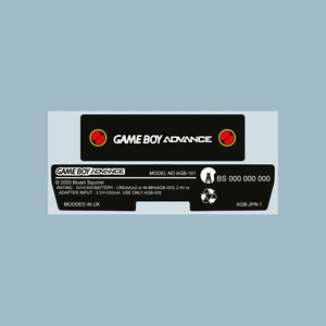Battle network Game Boy Style Game Boy Advance Back Sticker Label Set