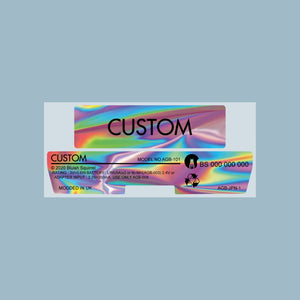Custom Game Boy Advance Back Sticker Label Set