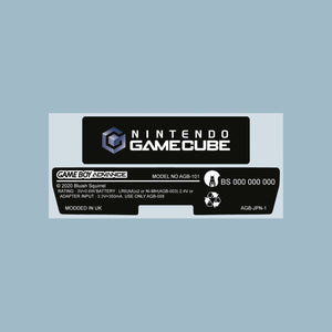 Gamecube Style Game Boy Advance Back Sticker Label Set