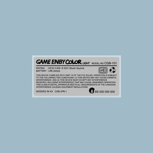 Game Enby Color Light Back Sticker Label