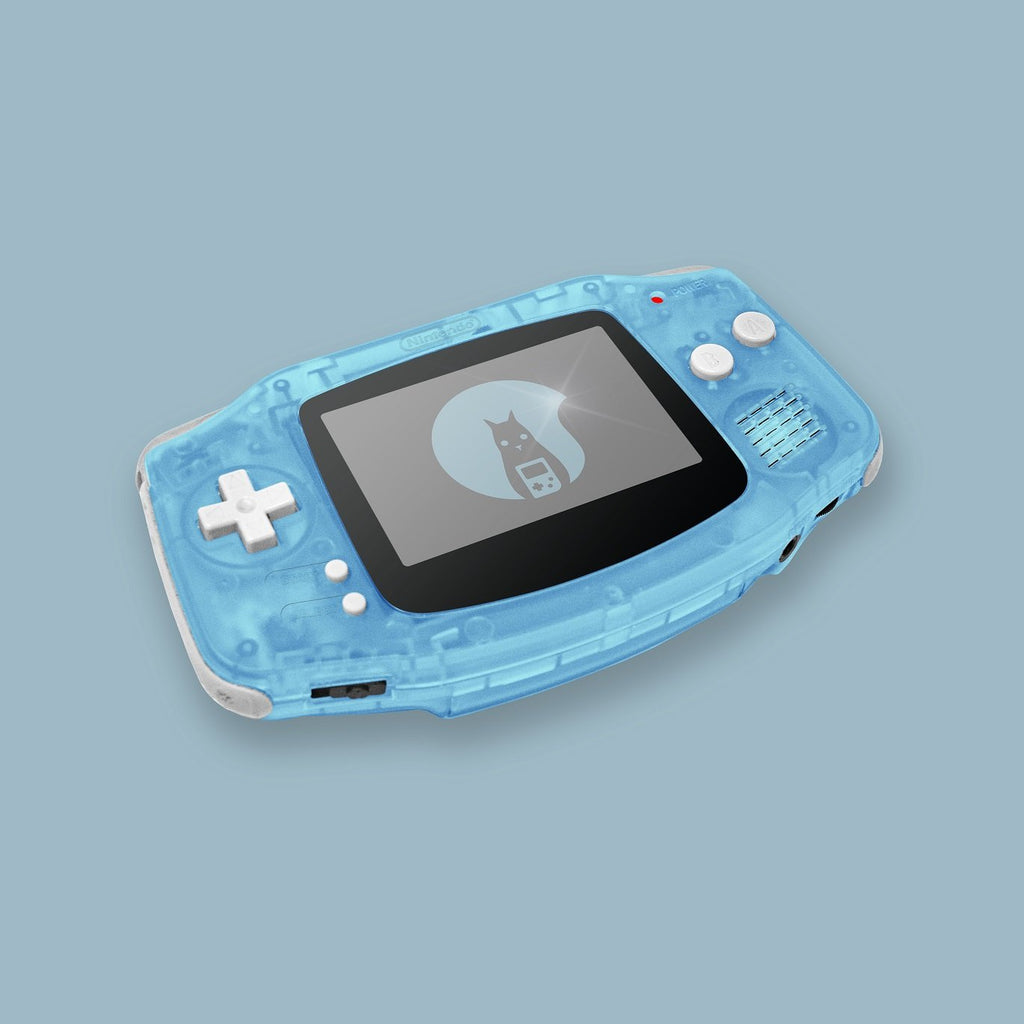 Glow In The Dark Blue Game Boy Advance Shell