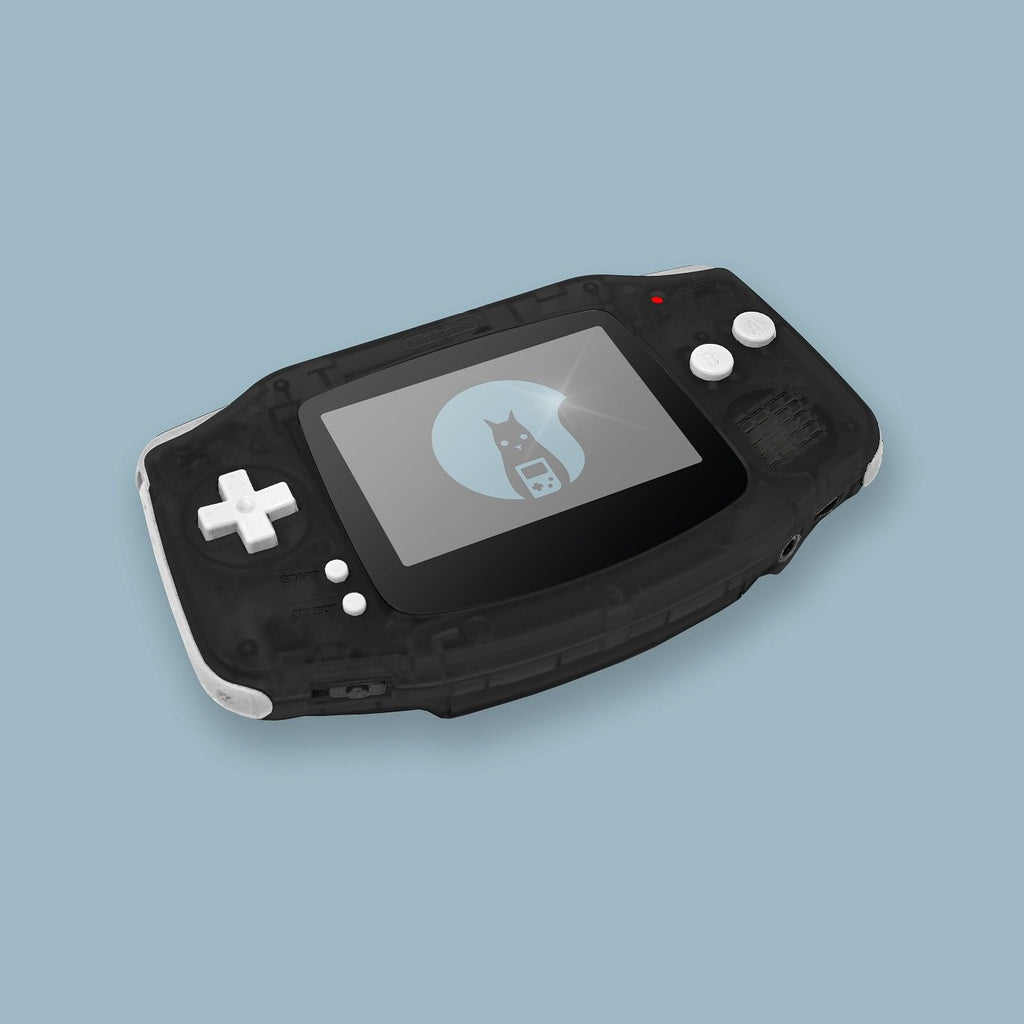 Transparent Black Game Boy Advance Shell