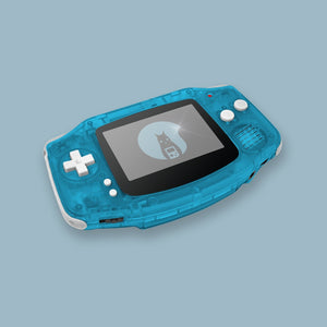 Transparent Blue Game Boy Advance Shell