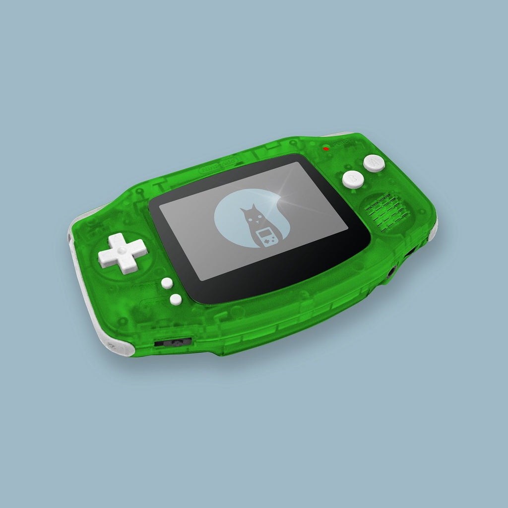 Transparent Green Game Boy Advance Shell